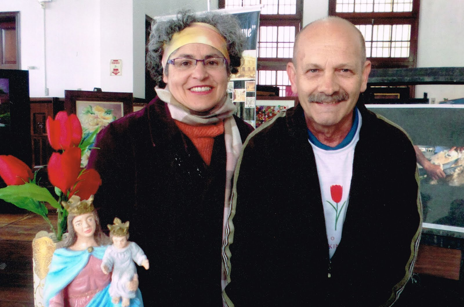 Manoel Ianzer com Marta Moussa