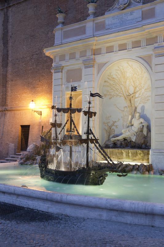 Boiserie c vaticano la fontana della galea - Fontana da interno ...
