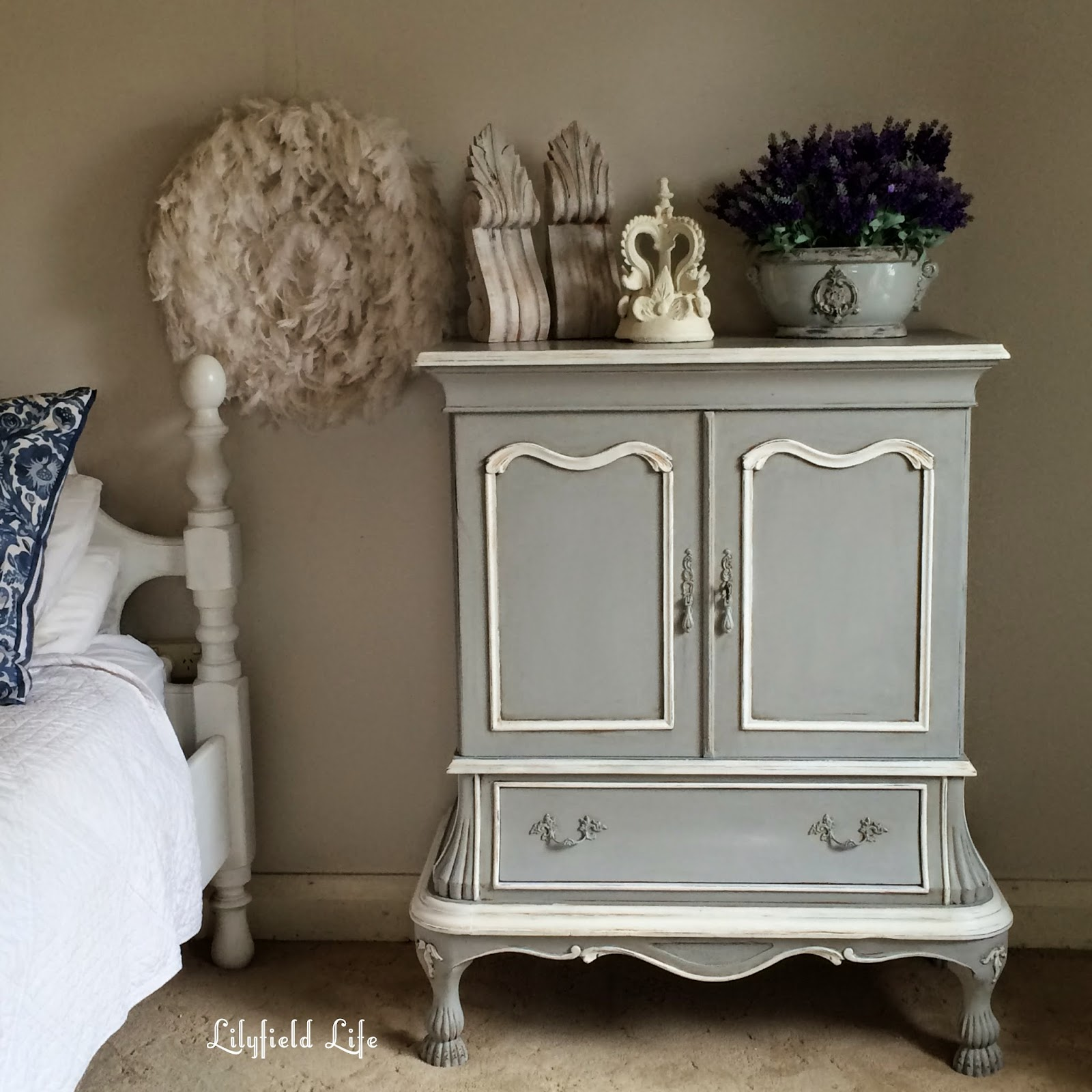 painted Tv cabinet French provincial style by Lilyfield Life