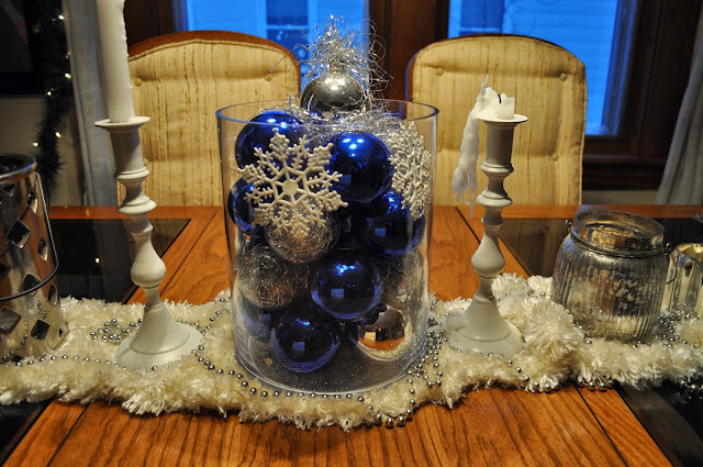 DIY, Christmas, Ornaments, Clear ornaments, tinsel, Decor, Holidays, center piece, christmas tree