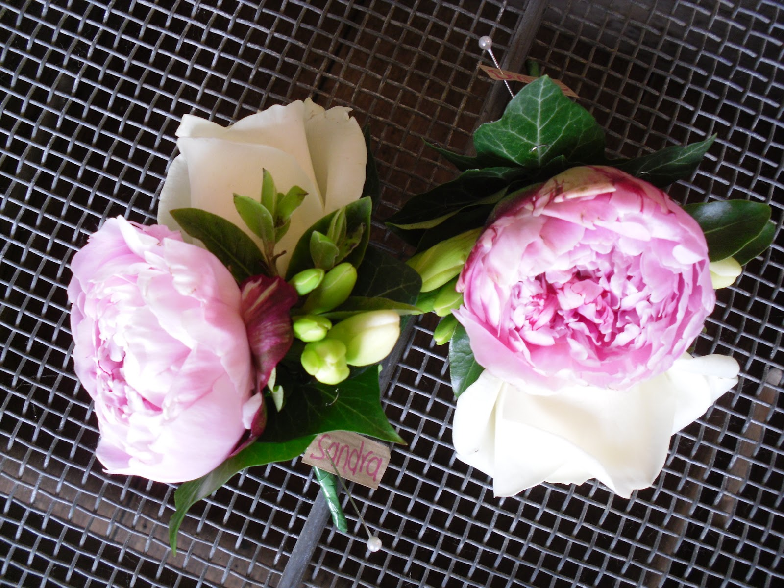 The Mum s wore a Corsage of a Pink Peony Corsage