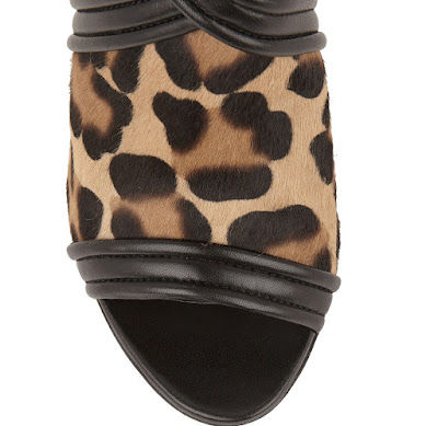 Altuzzara Black and leopard high heeled open sandals