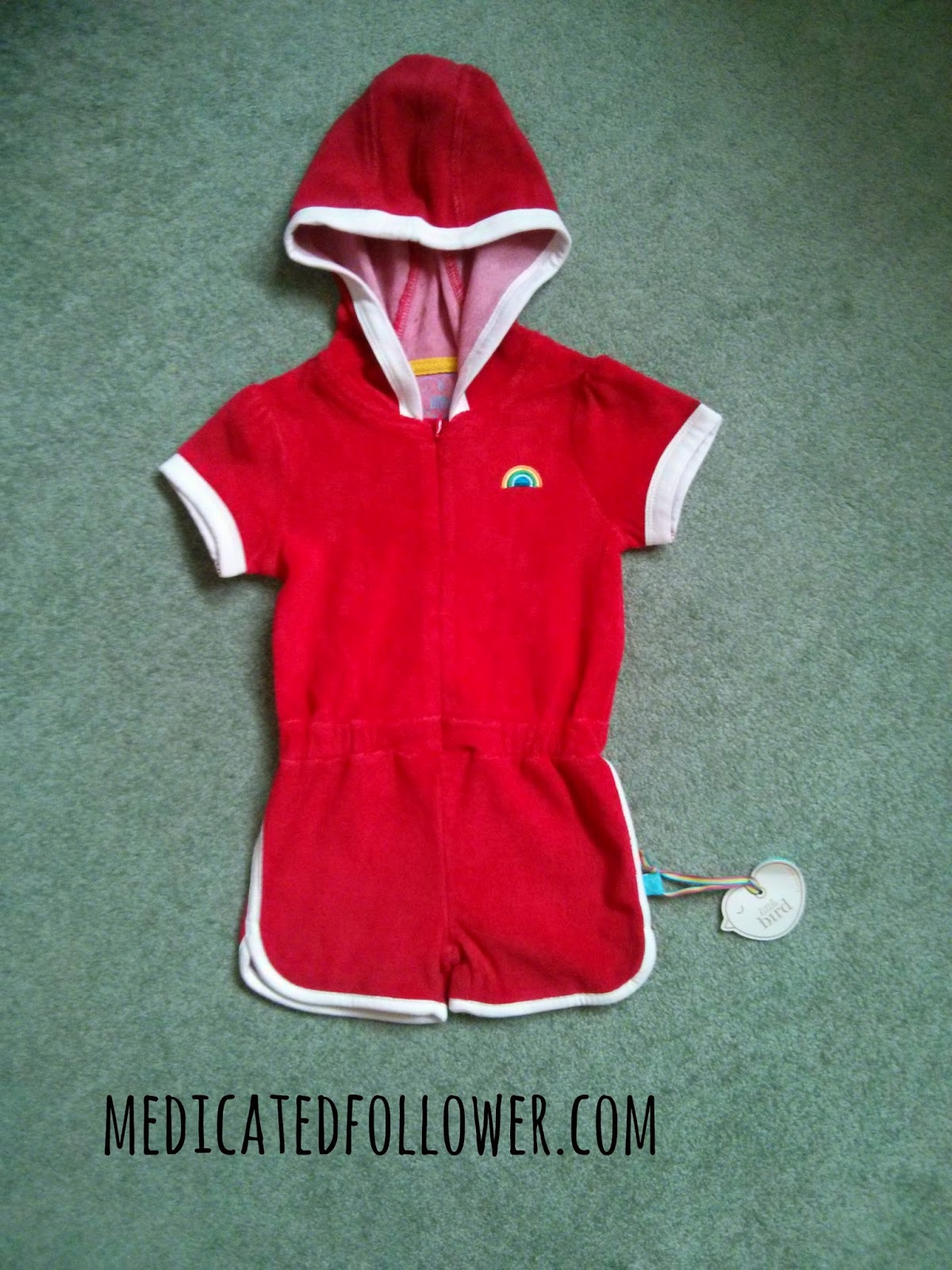 Little Bird by Jools Playsuit from Mothercare, vintage, retro, 1970s