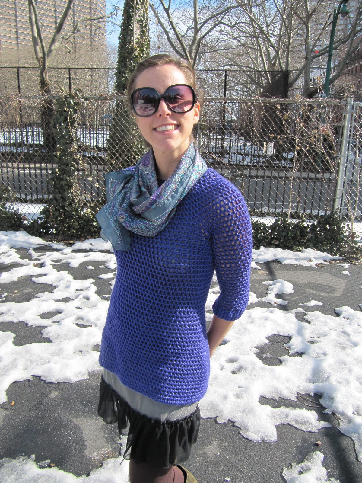 TeaBeans: Crochet Sweater Dress in Action!