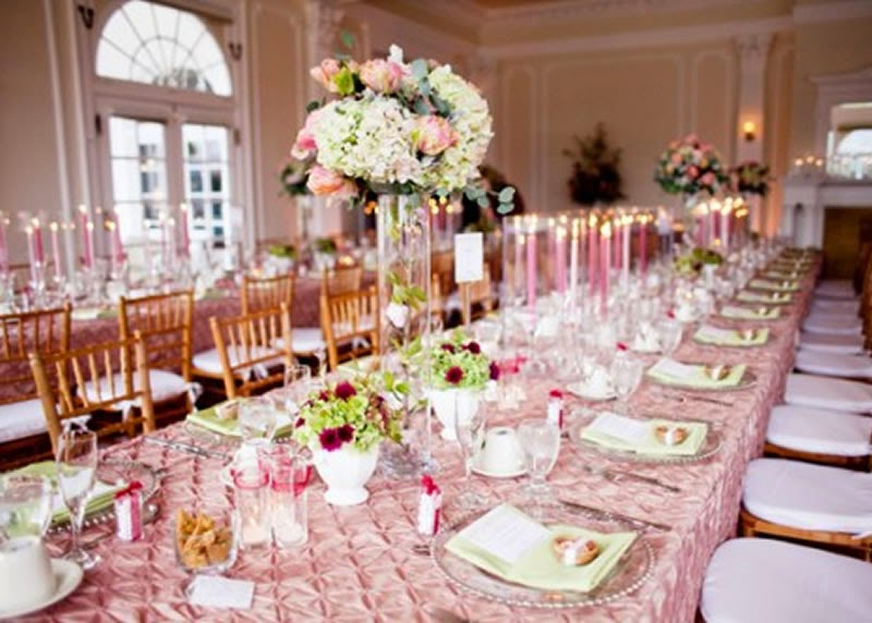 Beautiful brides magazine beautiful wedding table setting for Wedding table setting ideas