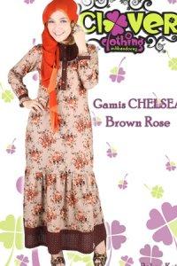 Clover Clothing Chelsea Rose - Brown (Toko Jilbab dan Busana Muslimah Terbaru)