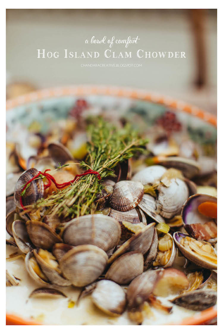 Hog Island Clam Chowder | via Chandara Creative recipes