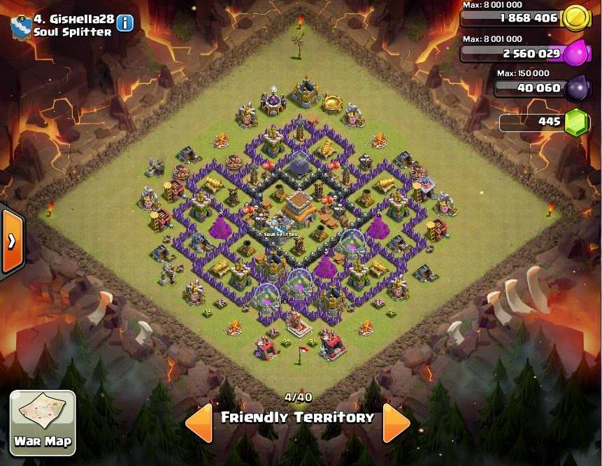 Gishella28 - COC Clans War Base
