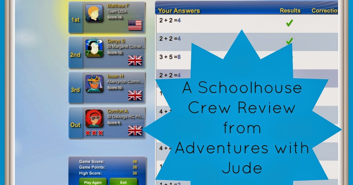Adventures with Jude: 3P Learning: Mathletics (A Schoolhouse Crew ...