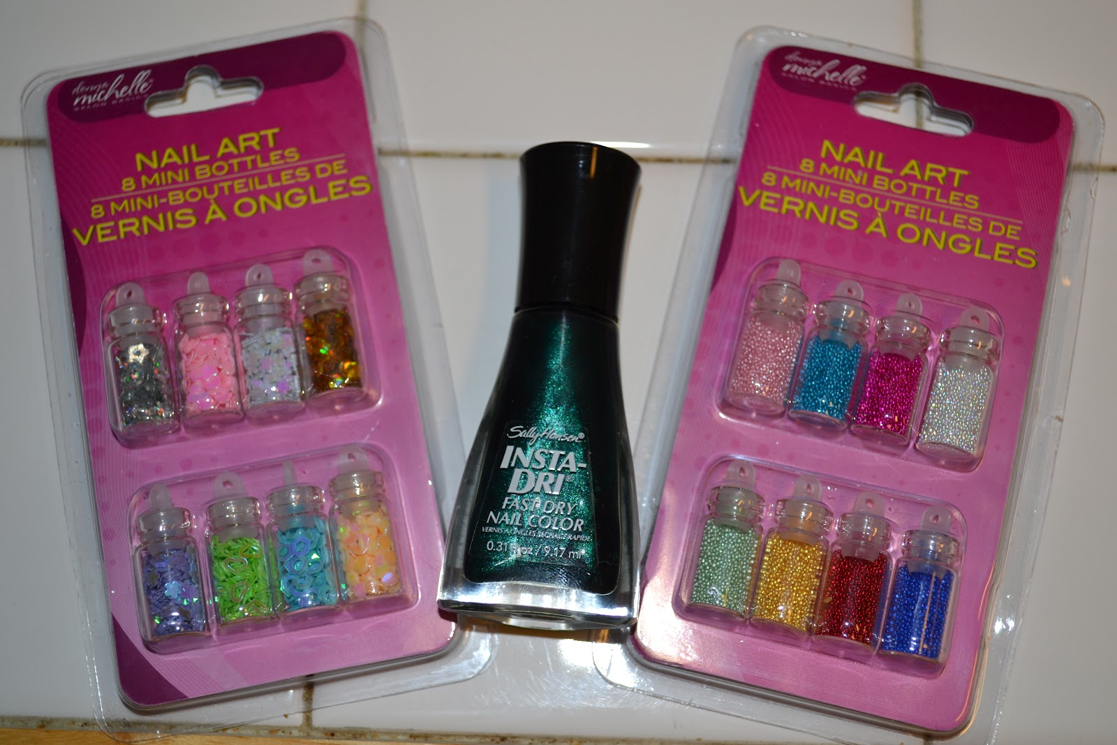 these sample sized bottles of nail art. Considering how much nail art ...