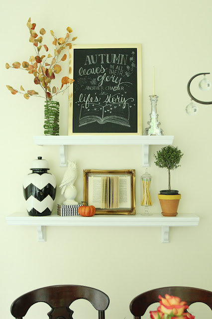 Fall Cafe Shelves and a Free Chalkboard Printable!