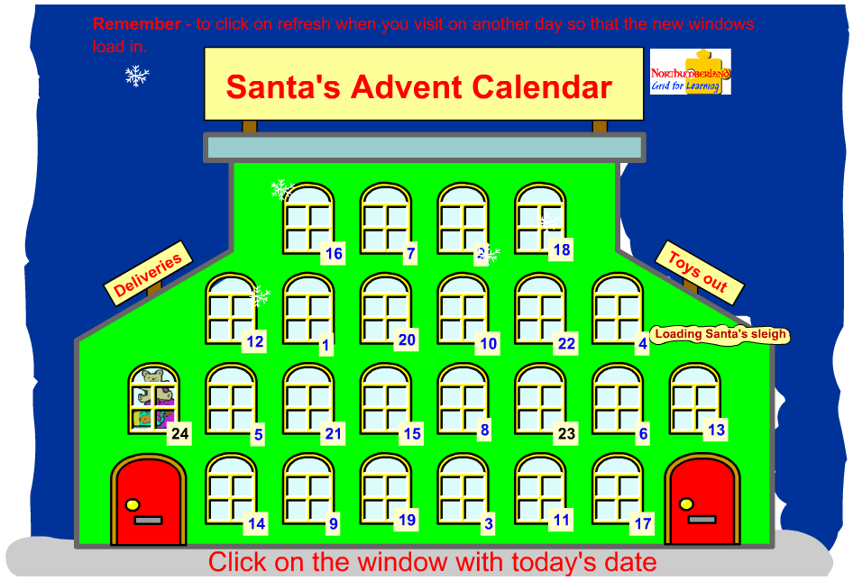 Interactive Advent Calendar for Kids