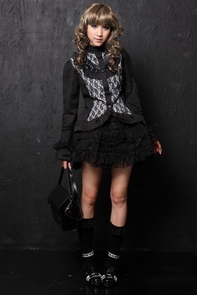 Black Gothic Lolita Blouse for Women