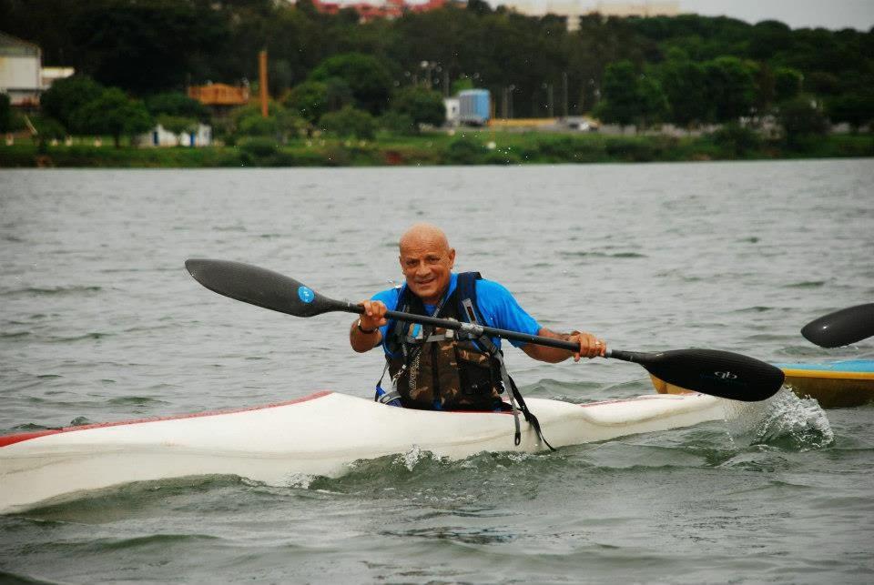 Mestre Tabosa nos campeonatos de canoagem em Brasília