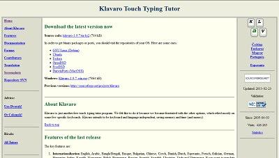 Klavaro, Typing Tutor Software