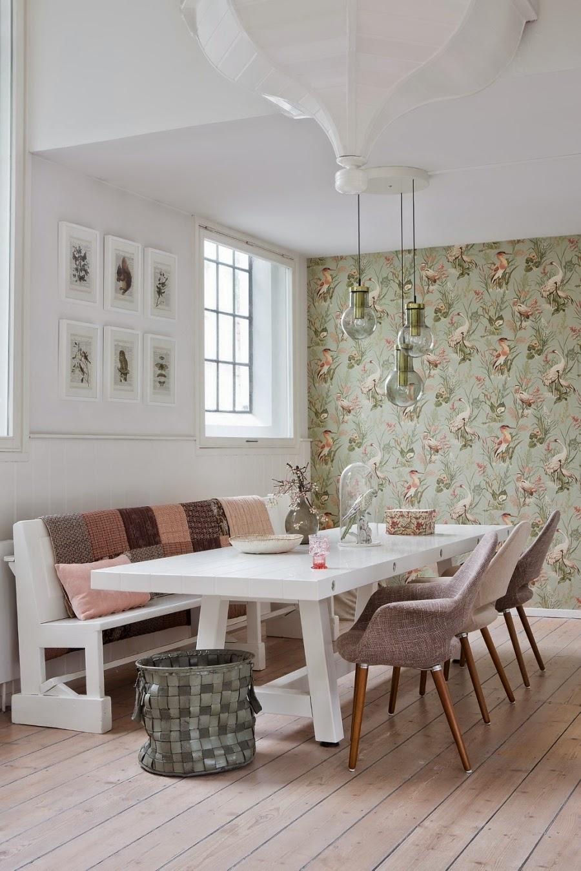 wystrój wnętrz, home decor, wnętrza, dom mieszkanie, urządzanie, pastelowe kolory, róż, jasne wnętrze, białe wnętrze, jadalnia