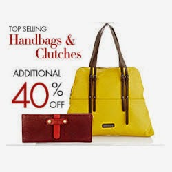 Amazon : Handbags & Clutches & upto 60% off + 40% off from Rs. 1019