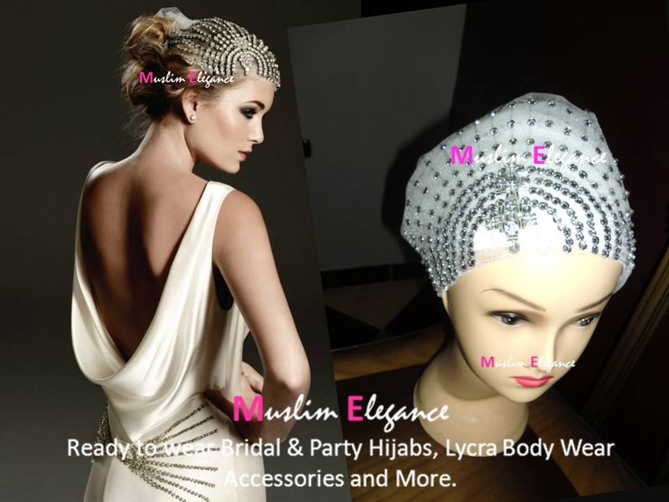 I just want to show you my new creation a beaded head band for brides