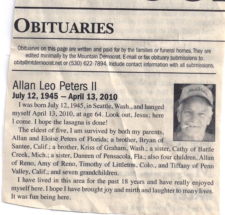 Obituary Template | SHIPS