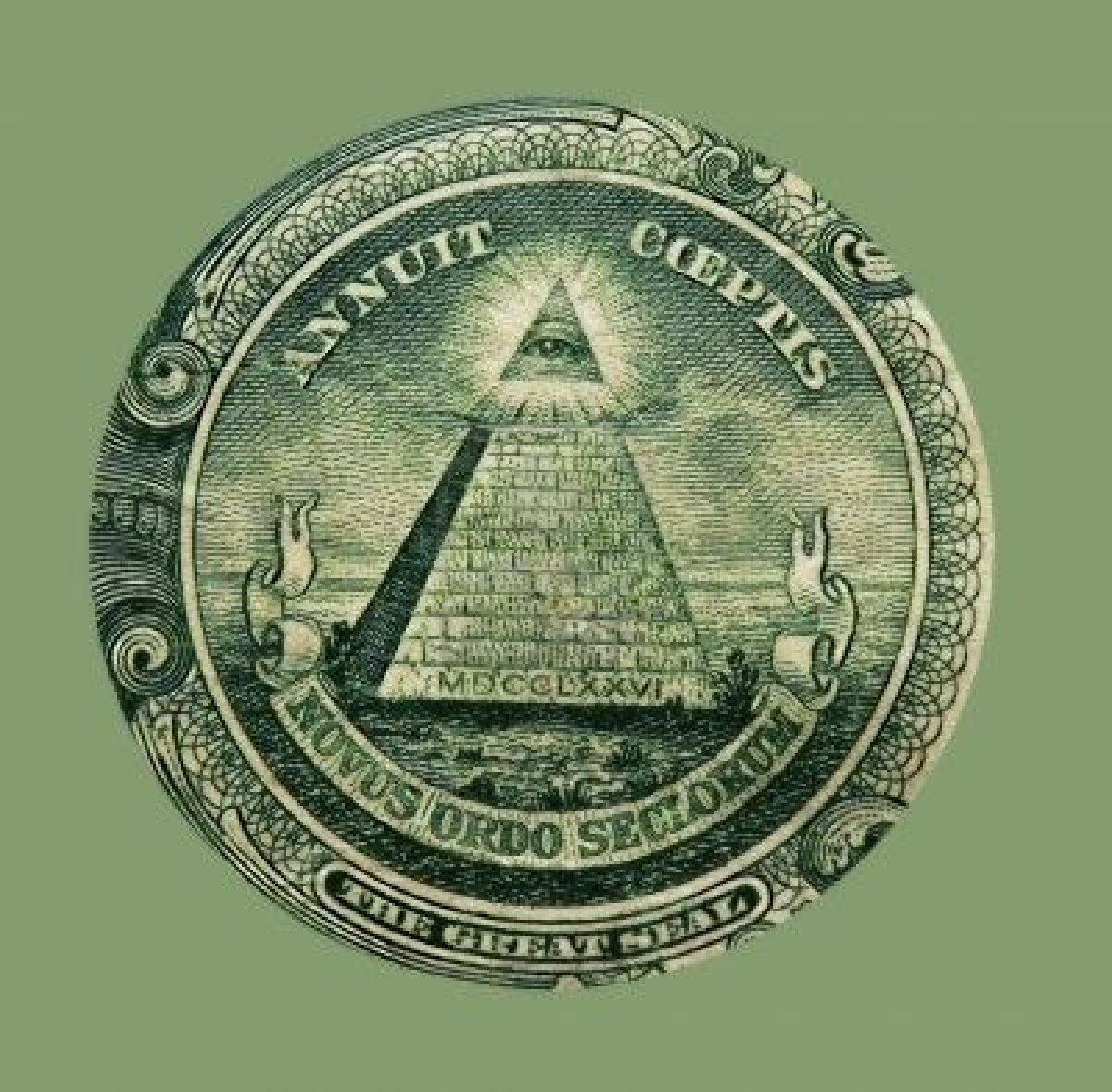 national write your congressman symbols on the one dollar