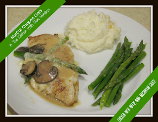 In The Kitchen With Mom Mondays: Chicken with white wine mushroom sauce