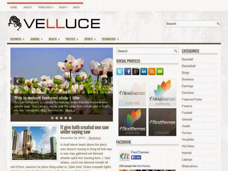 Velluce - Free Wordpress Theme