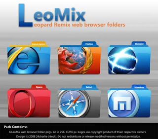 LeoMix Web Browser Icon Collections