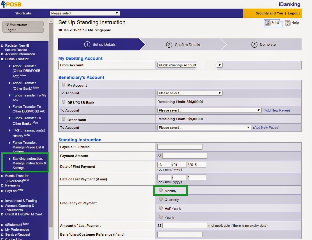 how to add funds in nab linked account