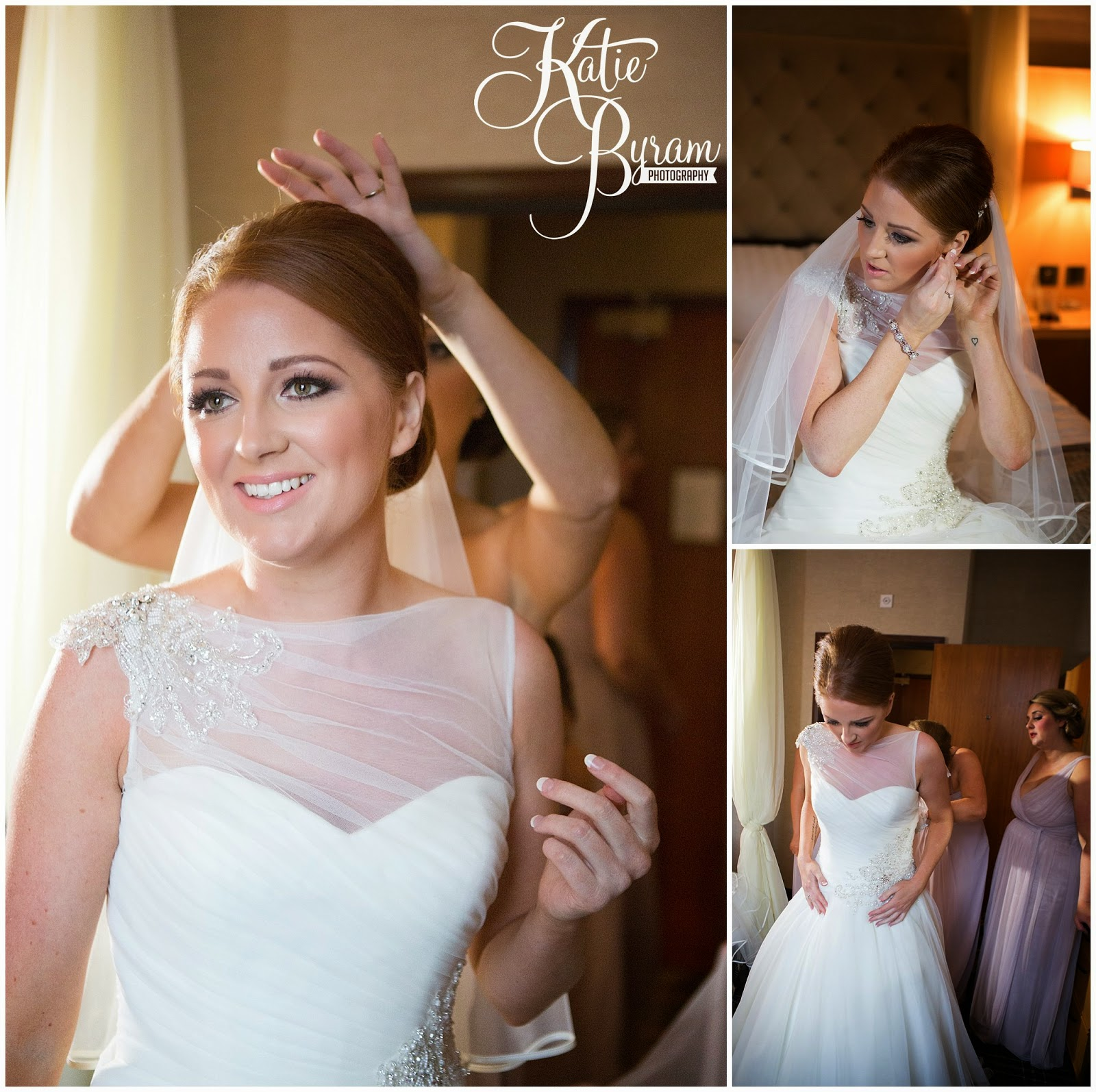 bride getting ready, newcastle city centre wedding, the vermont hotel,vermont weddings, newcastle wedding venue, katie byram photography, hotel wedding newcastle, quayside, nighttime wedding photographs
