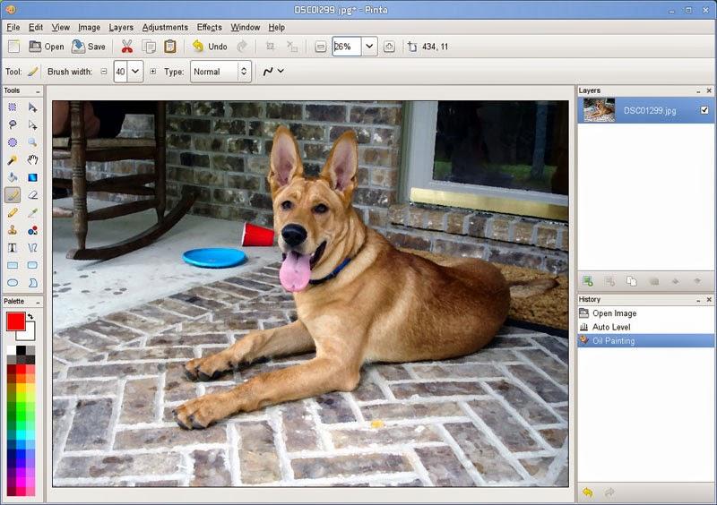 Actualización de Pinta, el clon de Paint, clon de paint en ubuntu, instalar paint en ubuntu,