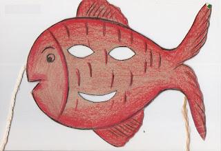 Máscara de peixe-símbolo da páscoa