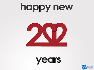 2012 Happy New Year Text HD Wallpaper