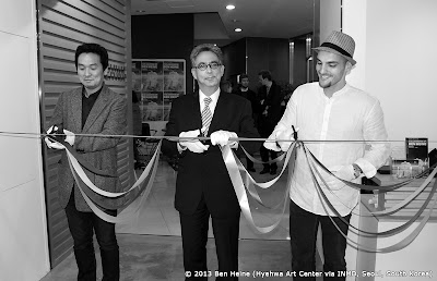 Opening Ceremony with INMD CEO Phyungkyu David Chang, Belgian Ambassador François Bontemps, and Artist Ben Heine