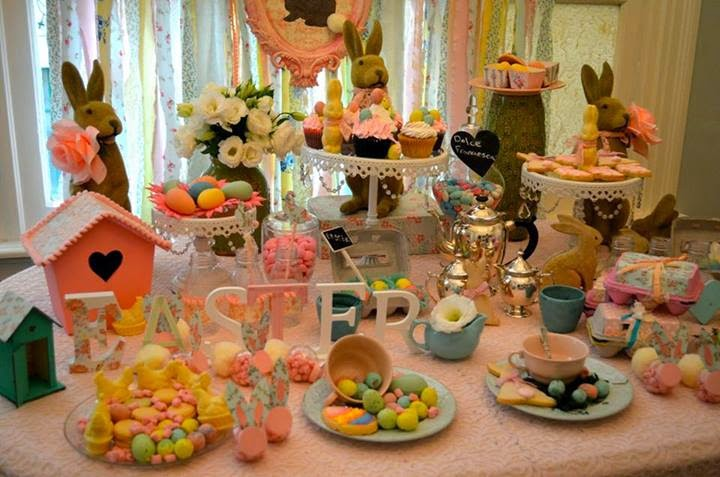 Elegante candy bar de pascuas estilo shabby chic ideas for Ideas deco estilo