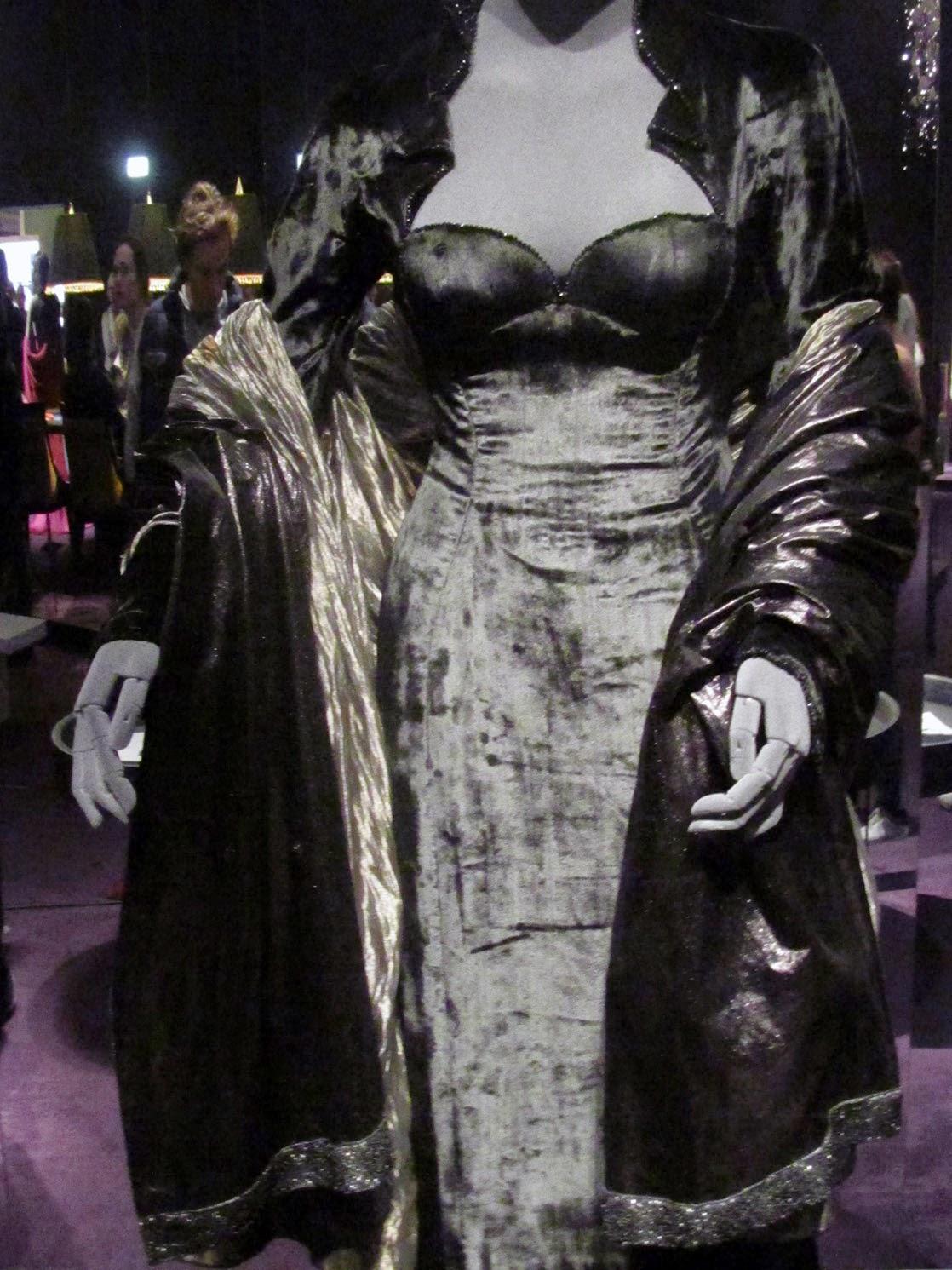 Famke Janssen's black dress