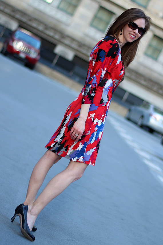 BCBG Printed Dress | StyleSidebar