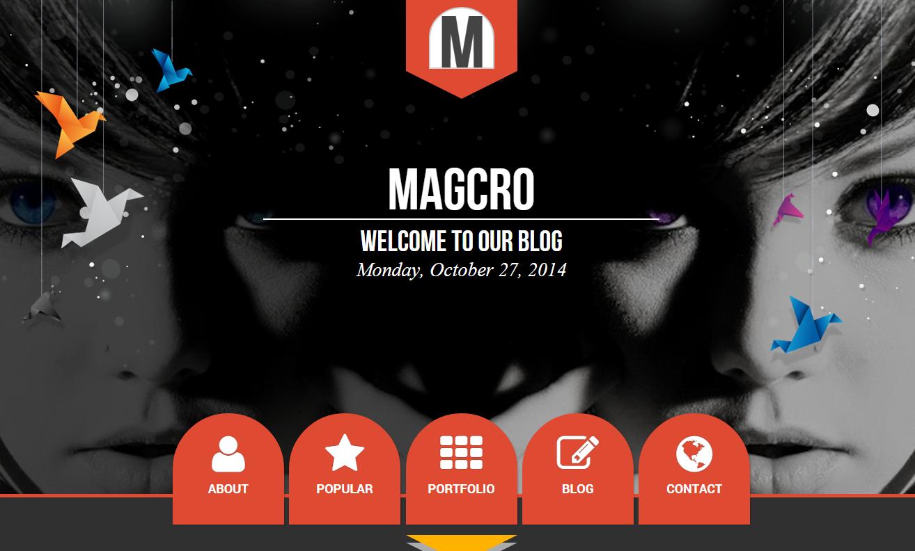 Magcro Parallax Blogger Kişisel Blog Teması