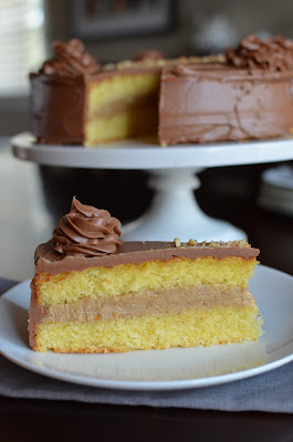 ... Hazelnut cake with praline and milk chocolate buttercream - 100th Post