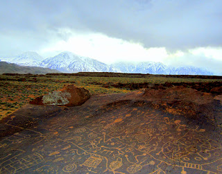 Sky Rock Petroglyphs located in the Volcanic Tablelands in Bishop, CA.