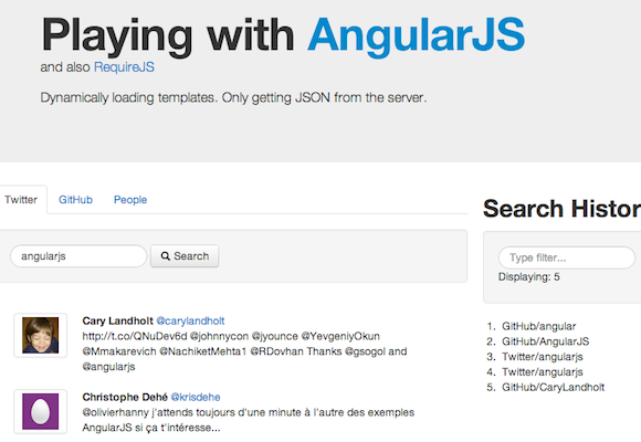 Angular: AngularJS Example Applications