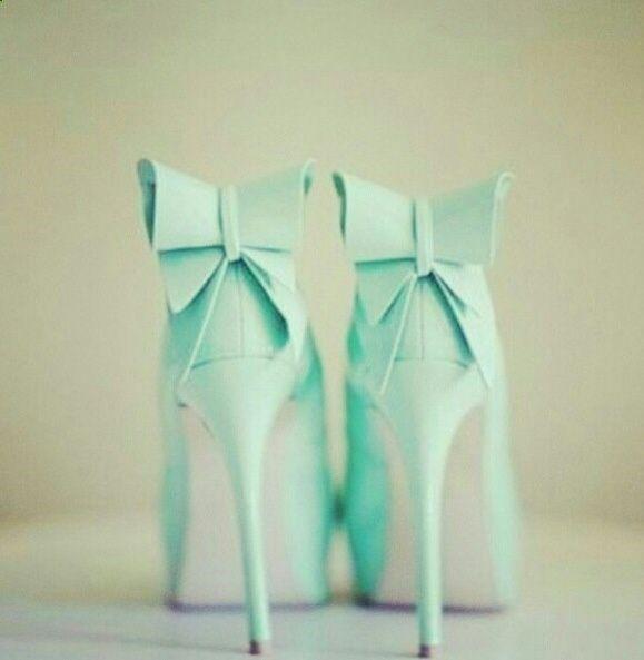 Fabulous Mint Bridal Shoes