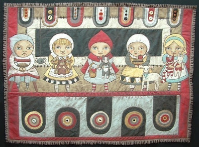 """""""The Quilted Crow Quilt Shop, folk art quilt fabric, quilt"""