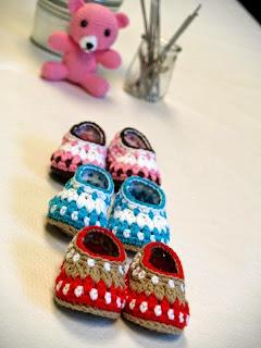 chausson-crochet-bébé-bohème