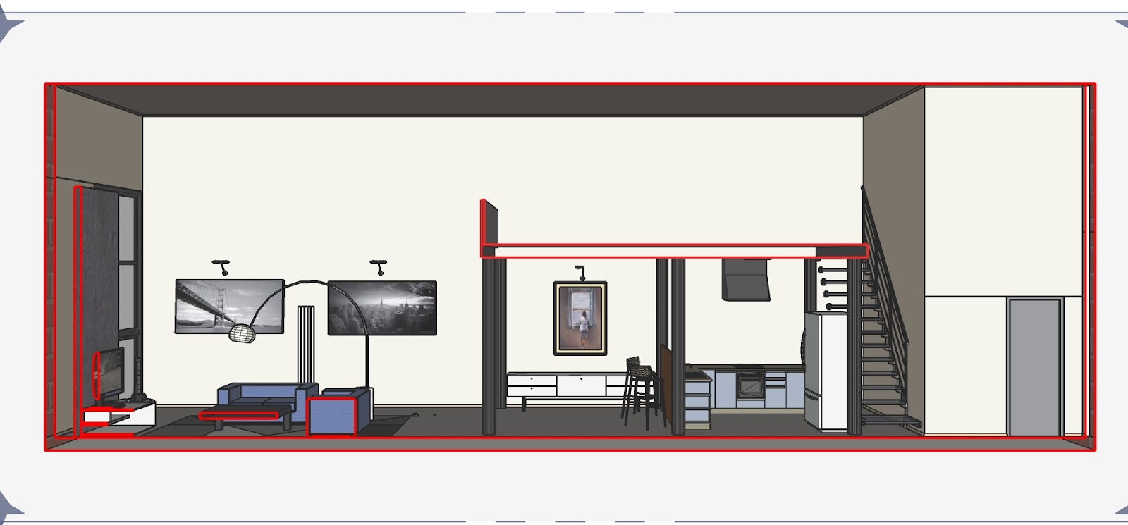 Illuminati la luce a 360 progetto di un loft for Progetto di casa loft