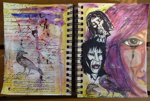 Whoopidooings - Carmen Wing: Sisterhood of the Travelling Sketchbook Art Journal