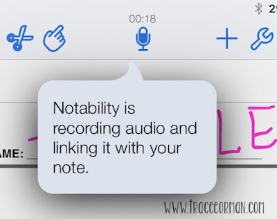 iPad Apps: Record an audio response on any document in Notability.