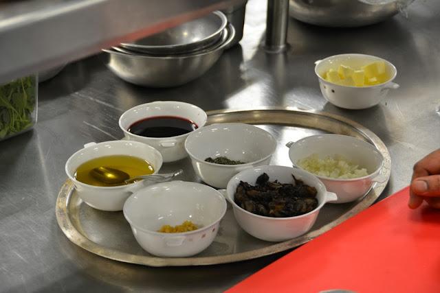 Murano cooking class ingredients
