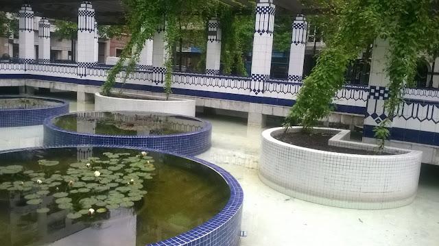 Nenúfares y mosaico Gijón.