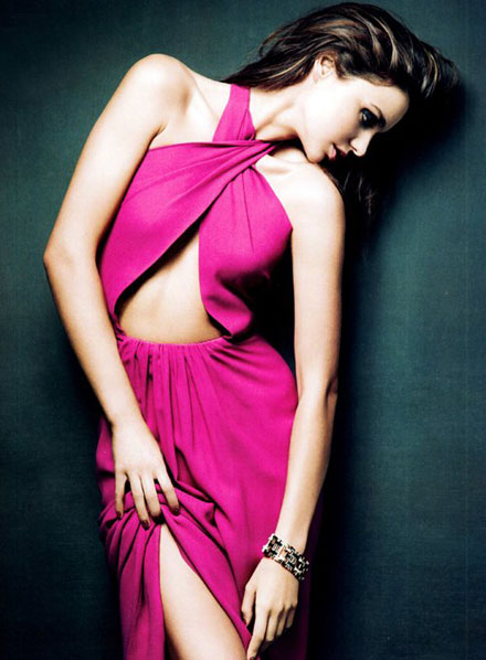 video: miranda kerr returns with spring fashion special for haute muse 2012 hot images