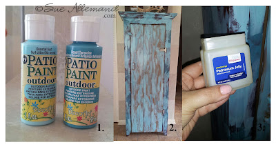 decorative painting, mixed media, home decor, how-to, furniture tutorial, Sue Allemand